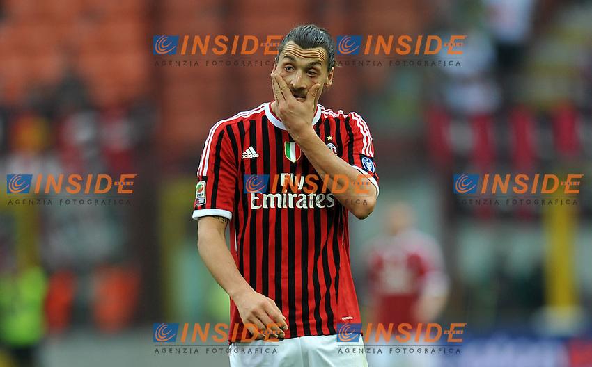"Zlatan IBRAHIMOVIC (Milan).Milano 11/03/2012 Stadio ""Giuseppe Meazza"".Serie A 2011/2012.Football Calcio Milan Vs Lecce.Foto Insidefoto Alessandro Sabattini."