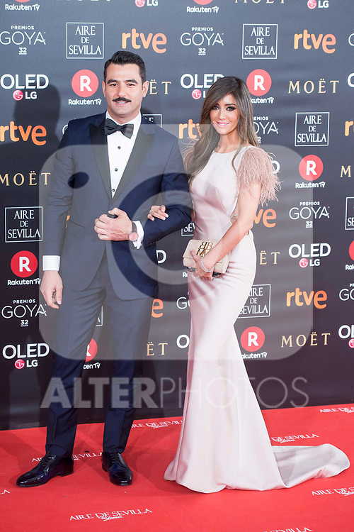 Antonio Velazquez and Marta Gonzalez attends red carpet of Goya Cinema Awards 2018 at Madrid Marriott Auditorium in Madrid , Spain. February 03, 2018. (ALTERPHOTOS/Borja B.Hojas)