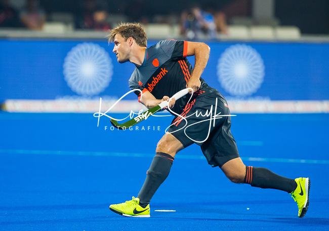 BHUBANESWAR (INDIA) - Jeroen Hertzberger (Ned)  tijdens Nederland-Canada bij het WK Hockey heren. COPYRIGHT KOEN SUYK
