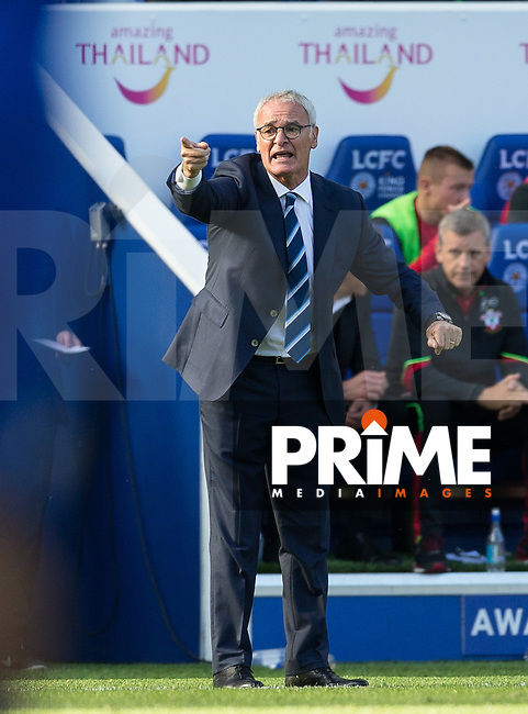 Leicester City Manager Claudio Ranieri during the Premier League match between Leicester City and Southampton at the King Power Stadium, Leicester, England on 2 October 2016. Photo by Andy Rowland.