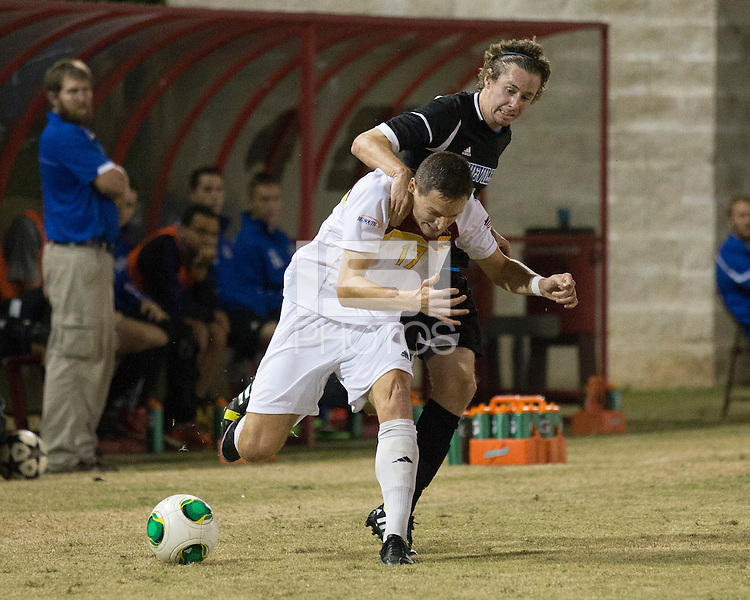 The Winthrop University Eagles beat the UNC Asheville Bulldogs 4-0 to clinch a spot in the Big South Championship tournament.  Adriano Negri (17), Stabler Cochrane (9)