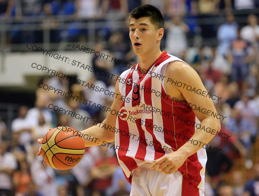 Kosarka Kosarkaska Liga Srbije season 2014-2015<br /> Crvena Zvezda v Partizan<br /> Luka Mitrovic<br /> Belgrade, 05.17.2015.<br /> foto: Srdjan Stevanovic/Starsportphoto &copy;