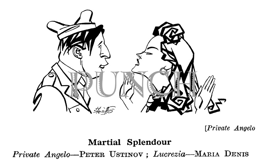 Private Angelo ; Peter Ustinov and Maria Denis