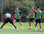 David Brooks of Sheffield Utd and Ben Whiteman of Sheffield Utd  during the Sheffield Utd training session at the Shirecliffe Training Complex , Sheffield. Picture date: September 29th, 2016. Pic Simon Bellis/Sportimage