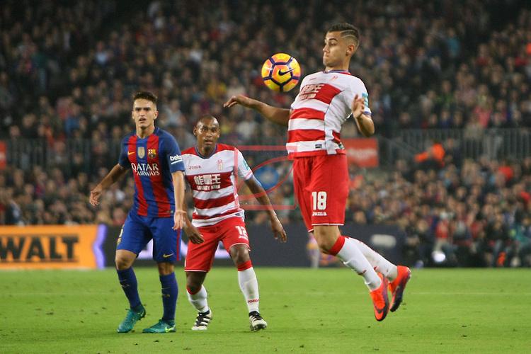 League Santander 2016/2017. Game: 10.<br /> FC Barcelona vs Granada CF: 1-0.<br /> Andreas Pereira.