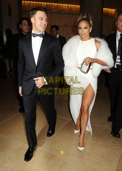 11 January 2015 - Beverly Hills, California - Ryan Guzman, Jennifer Lopez. 72nd Annual Golden Globe Awards - Exits held at the Beverly Hilton Hotel. <br /> CAP/ADM/BP<br /> &copy;BP/ADM/Capital Pictures