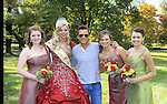 "General Hospital's Scott Reeves ""Dr. Steven Lars Webber"" is the Celebrity Grand Marshal and poses with Chloe Harman, Alivia Ayers (Queen Pomona XXXIII), Kacy Shafer and Hartley Lushbaugh at the 33rd Annual Mountain State Apple Harvest Festival (MSAHF) 2012 parade on October 20, 2012 in Martinsburg, West Virginia. (Photo by Sue Coflin/Max Photos)"