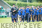 The Piped Piper leads the teams around the pitch to start Feile na nÓg in Legion GAA field in Friday evening