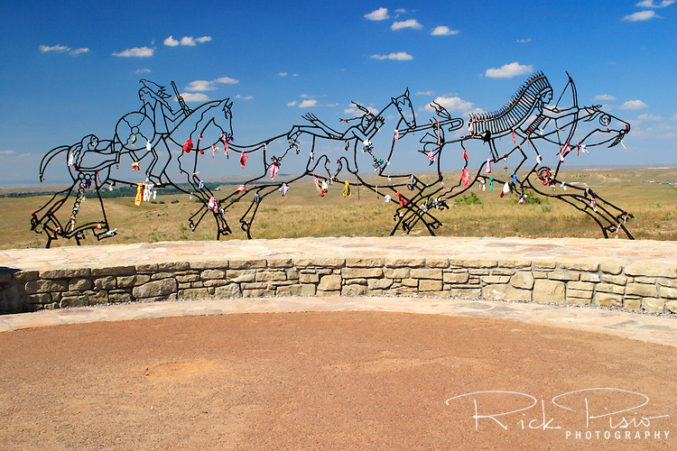 "Indian Memorial at Little Bighorn Battlefield National Monument. In 1991 the bill that changed the name to Little Bighorn National Monument also called for an ""Indian Memorial"" to be built near Last Stand Hill."