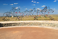 """Indian Memorial at Little Bighorn Battlefield National Monument. In 1991 the bill that changed the name to Little Bighorn National Monument also called for an """"Indian Memorial"""" to be built near Last Stand Hill."""