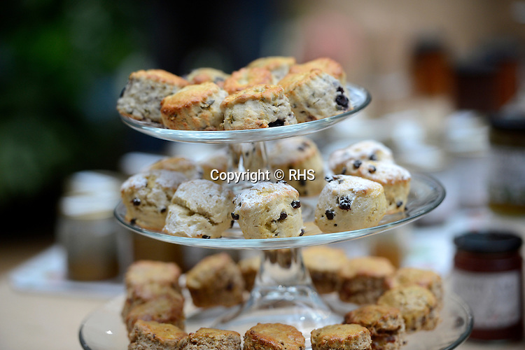 Scones for sale at an RHS Secret Garden Sunday.
