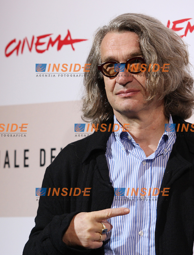 Wim Wenders<br /> Third edition of the Rome International film festival<br /> Roma 23/10/2008 <br /> Photocall '8'<br /> Photo Antonietta Baldassarre Insidefoto