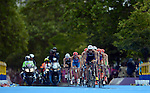 LONDON, ENGLAND - AUGUST 7:  General view of the bike during the Men's Triathlon Final, Day 12 of the London 2012 Olympic Games on August 7, 2012 at Hyde Park in London, England. (Photo by Donald Miralle)