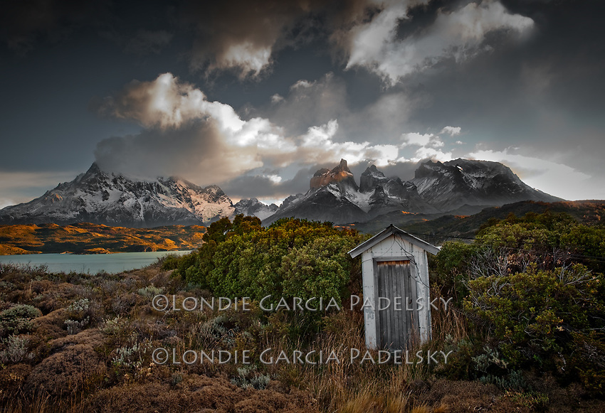 Outhouse at Torres Del Paine National Park, Chile, Patagonia, South America