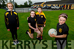 The young Currow girls ready to enjoy the reopening of the GAA field.<br /> Front right: Grace McCarthy<br /> Back l to r: Lauren Coffey, Katelyn and Megan Brosnan.