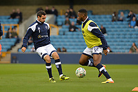 Millwalls Mahlon Romeo warms up during Millwall vs Stevenage, Caraboa Cup Football at The Den on 8th August 2017