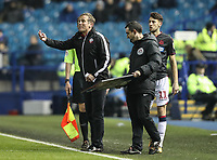 Bolton Wanderers' manager Phil Parkinson brings on substitute Will Buckley  <br /> <br /> Photographer Andrew Kearns/CameraSport<br /> <br /> The EFL Sky Bet Championship - Sheffield Wednesday v Bolton Wanderers - Tuesday 27th November 2018 - Hillsborough - Sheffield<br /> <br /> World Copyright &copy; 2018 CameraSport. All rights reserved. 43 Linden Ave. Countesthorpe. Leicester. England. LE8 5PG - Tel: +44 (0) 116 277 4147 - admin@camerasport.com - www.camerasport.com