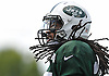 Calvin Pryor #25 of the New York Jets practices during team training camp at Atlantic Health Jets Training Center in Florham Park, NJ on Thursday, Aug. 4, 2016.