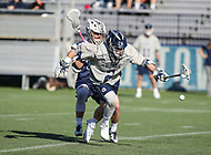 Washington, DC - February 27, 2018: Georgetown Hoyas Peter Tagliaferri (2) tries to get the ball during game between Mount St. Mary's and Georgetown at  Cooper Field in Washington, DC.   (Photo by Elliott Brown/Media Images International)