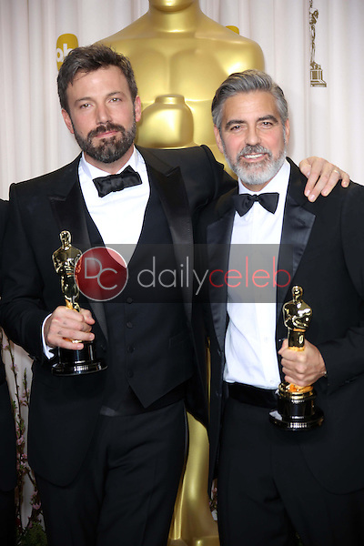Ben Affleck and George Clooney<br />