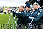 Management John Shannhan, Denis Dwyer and Austin Constable during the Semi finals of the Kerry Senior GAA Football Championship between Dr Crokes and South Kerry at Fitzgerald Stadium on Sunday.