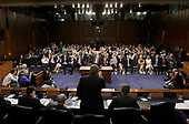 """United States Attorney General Jeff Sessions is sworn-in to give testimony before the US Senate Select Committee on Intelligence to  """"examine certain intelligence matters relating to the 2016 United States election"""" on Capitol Hill in Washington, DC on Tuesday, June 13, 2017.  In his prepared statement Attorney General Sessions said it was an """"appalling and detestable lie"""" to accuse him of colluding with the Russians.<br /> Credit: Jim Bourg / Pool via CNP"""