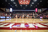 STANFORD, CA - November 4, 2018: Audriana Fitzmorris, Kathryn Plummer, Holly Campbell, Morgan Hentz, Jenna Gray, Meghan McClure at Maples Pavilion. No. 2 Stanford Cardinal defeated the Utah Utes 3-0.