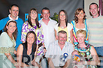 FAMILY: Christina and Gerard Hayes, Keel, celebrate their 50th birthdays with their.family in the Anvil Bar, Keel, last Saturday night. Front row l-r: Mary Murphy, Sinead.Hayes, Gerard Hayes and Christina Hayes with baby Callum Russell. Back row l-r: Danny.Murphy, Norita Hayes, Paul Russell, Deirdre Hayes, Annette Hayes and Kevin Courtney.