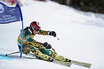 9 MAR 2011: Alex Parker of the University of Alaska - Anchorage in the women's giant slalom alpine race during the 2011 NCAA Men and Women's Division I Skiing Championship held Stowe Mountain Resort and Trapp Family Lodge in Stowe, VT. Parker finished 3rd to win the bronze. ©Brett Wilhelm/NCAA Photos