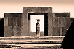 Tiahuanaco_Ponce Monolith_Entrance Gate To Temple Of Kalassasaya_Bolivia