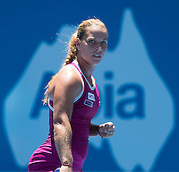 DOMINIKA CIBULKOVA..Tennis - Apia Sydney International -  Sydney 2013 -  Olympic Park - Sydney - NSW - Australia. Sunday 6th January  2013. .© AMN Images, 30, Cleveland Street, London, W1T 4JD.Tel - +44 20 7907 6387.mfrey@advantagemedianet.com.www.amnimages.photoshelter.com.www.advantagemedianet.com.www.tennishead.net