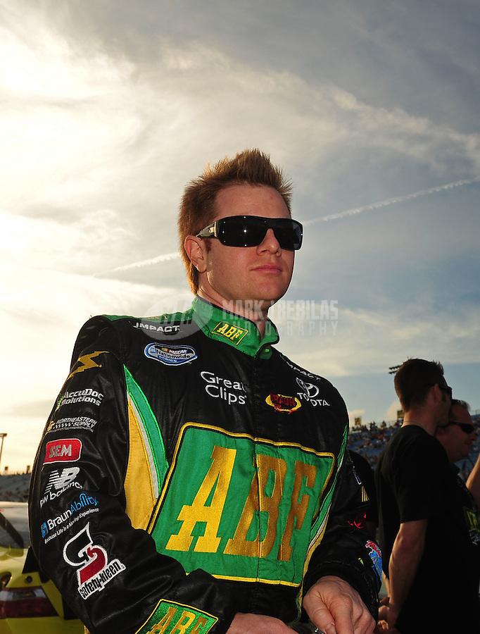 Nov. 20, 2010; Homestead, FL, USA; NASCAR Nationwide Series driver Jason Leffler during the Ford 300 at Homestead Miami Speedway. Mandatory Credit: Mark J. Rebilas-