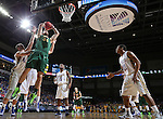 SIOUX FALLS, SD - MARCH 10: Chris Kading #34 of North Dakota State gets a shot past South Dakota State defenders in the first half of the men's Summit League Championship Tournament game Tuesday at the Denny Sanford Premier Center in Sioux Falls, SD. (Photo by Dick Carlson/Inertia)
