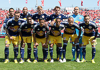 April 27, 2013: The New York Red Bulls starting eleven in a game between Toronto FC and the New York Red Bulls at BMO Field  in Toronto, Ontario Canada..The New York Red Bulls won 2-1.