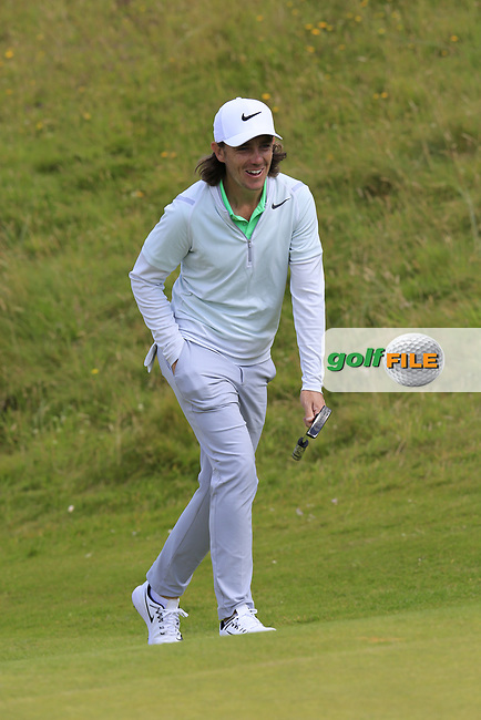 Tommy Fleetwood (ENG) walks up to the 2nd green during Saturday's Round 3 of the 2017 Dubai Duty Free Irish Open held at Portstewart Golf Club, Portstewart, Co Derry, Northern Ireland. 08/07/2017<br /> Picture: Golffile | Eoin Clarke<br /> <br /> <br /> All photo usage must carry mandatory copyright credit (&copy; Golffile | Eoin Clarke)