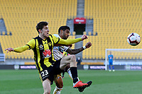 Wellington Phoenix' Mathew Ridenton in action during the A League - Wellington Phoenix v Newcastle Jets at Westpac Stadium, Wellington, New Zealand on Sunday 21 October  2018. <br /> Photo by Masanori Udagawa. <br /> www.photowellington.photoshelter.com