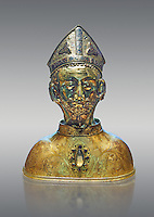 Medieval Gothic reliquary of Saint Martin probably made in Avignon in the second quarter of the 14th century. From the church of Soudeilles, Correze, France.  inv 6459, The Louvre Museum, Paris.