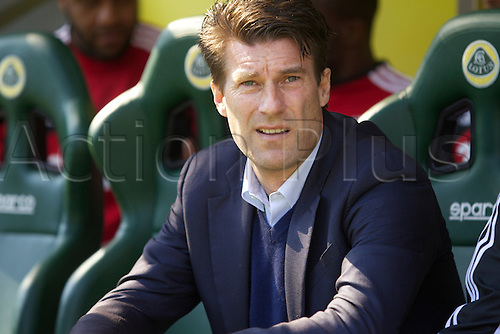 06.04.2013 Norwich, England.  Swansea manager Michael Laudrup before the Premier League game between Norwich City and Swansea City from Carrow Road.