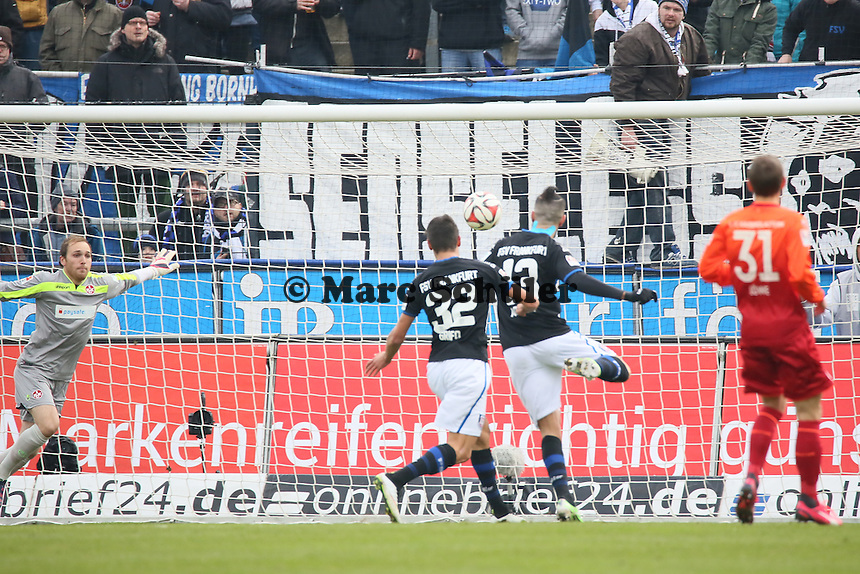 Grosse Chance fuer Muhammad Aoudia (FSV) - FSV Frankfurt vs. 1. FC Kaiserslautern, Frankfurter Volksbank Stadion