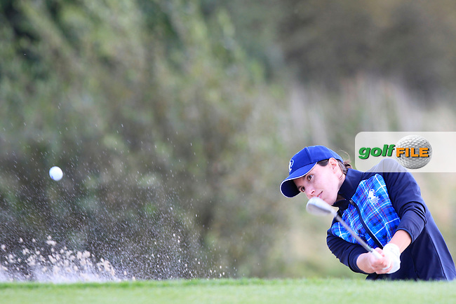 Carlota Ciganda of Team Europe on the 9th during Day 1 Fourball at the Solheim Cup 2019, Gleneagles Golf CLub, Auchterarder, Perthshire, Scotland. 13/09/2019.<br /> Picture Thos Caffrey / Golffile.ie<br /> <br /> All photo usage must carry mandatory copyright credit (© Golffile | Thos Caffrey)