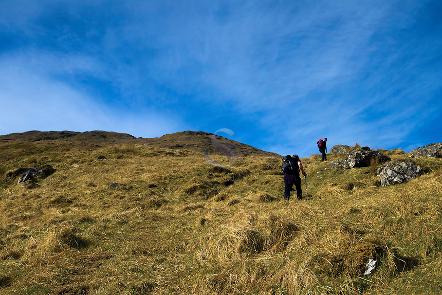 Ascending Sron Garbh, An Caisteal above Crianlarich, Loch Lomond and the Trossachs National Park, Stirlingshire