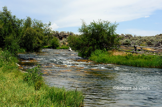 Lower Silver Creek south of Highway 20, off the Cutoff Rd