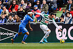 Enrique Garcia of SD Eibar (L) dribbles Damian Suarez of Getafe CF (R) during the La Liga 2017-18 match between Getafe CF and SD Eibar at Coliseum Alfonso Perez Stadium on 09 December 2017 in Getafe, Spain. Photo by Diego Souto / Power Sport Images
