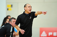 The girls North Harbour coach makes a point during the National Under-15 Basketball Championship at the ASB Sports Centre, Kilbirnie, Wellington, New Zealand on Thursday, 25 July 2013. Photo: Dave Lintott / lintottphoto.co.nz