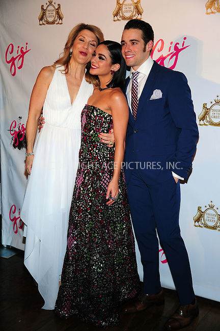 ACEPIXS.COM<br /> <br /> April 8 2015, Nedw York City<br /> <br /> (L-R) Actors Victoria Clark, Vanessa Hudgens and Corey Cott at the 'Gigi' Broadway Opening Night After Party at the Tavern On The Green on April 8, 2015 in New York City.<br /> <br /> By Line: William Bernard/ACE Pictures<br /> <br /> ACE Pictures, Inc.<br /> www.acepixs.com<br /> Email: info@acepixs.com<br /> Tel: 646 769 0430