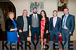 Listowel Emmetts Social : Attending the Listowel Emmett's GAA social at the Listowel Arms Hotel on Saturday night last were Kate Geraghty, Michael Walsh, Denis Walsh, Maria Keane, David Sheehy & Darren Halpin.