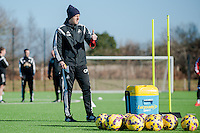 SWANSEA, WALES - FEBRUARY 17:  Garry Monk, Manager of Swansea City during a training session at the Fairwood training ground on February 17, 2015 in Swansea, Wales.  (Photo by Athena Pictures )