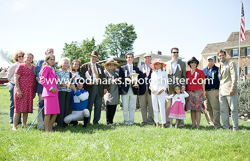 A family affair in the winner's circle after the Radnor Hunt Cup.
