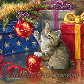 Marcello, CHRISTMAS ANIMALS, WEIHNACHTEN TIERE, NAVIDAD ANIMALES, paintings+++++,ITMCXM1818A,#XA# ,cats