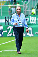 PALMIRA - COLOMBIA, 23-09-2018: Gerardo Pelusso, técnico de Deportivo Cali, durante partido de la fecha 11 entre Deportivo Cali y Deportes Tolima, por la Liga Aguila II 2018, jugado en el estadio Deportivo Cali (Palmaseca) de la ciudad de Cali. / Gerardo Pelusso, coach of Deportivo Cali, during a match of the date 11th between Deportivo Cali and Deportes Tolima, for the Liga Aguila II 2018 at the Deportivo Cali (Palmaseca) stadium in Cali city. Photo: VizzorImage  / Nelson Rios / Cont.